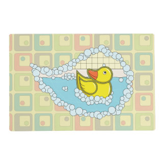 Chaucer the Rubber Duck Laminated Placemat