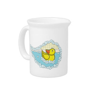 Chaucer the Rubber Duck Pitcher