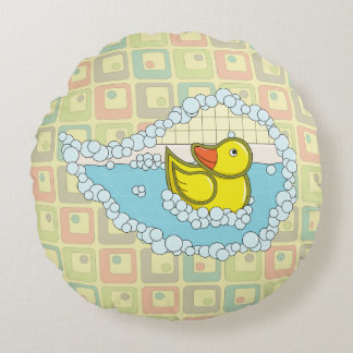 Chaucer the Rubber Duck Round Pillow
