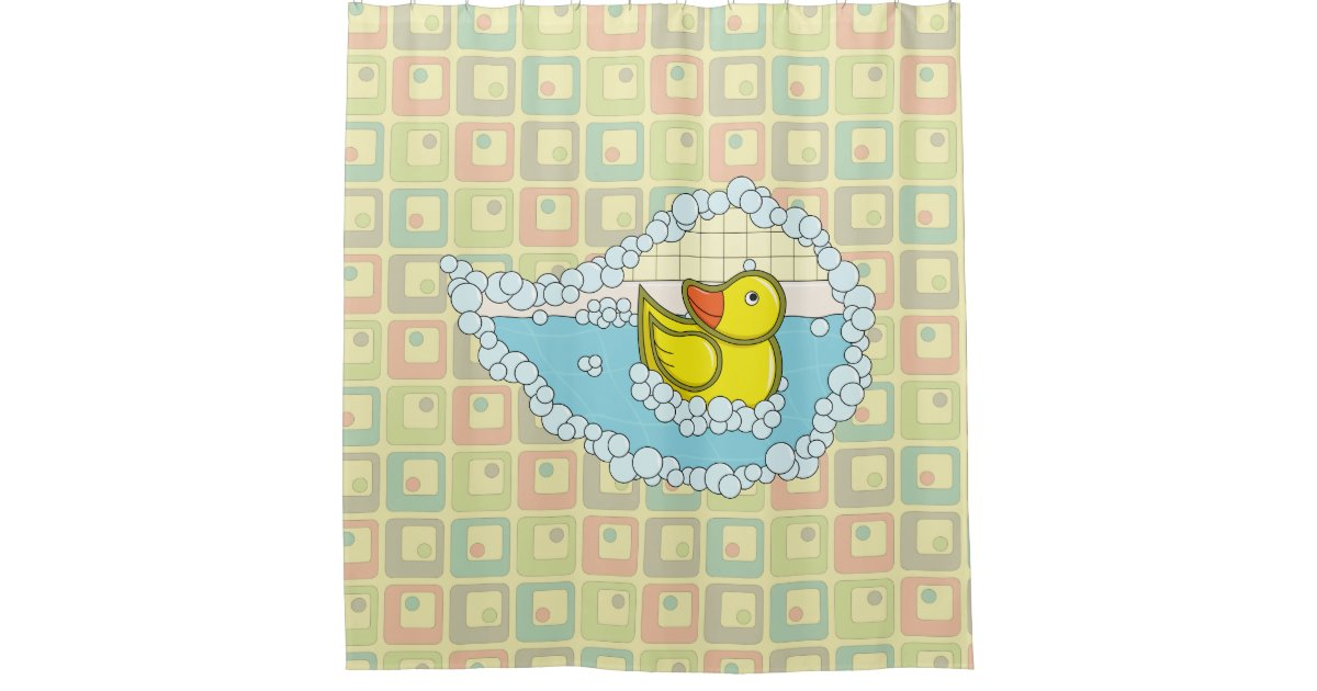 Chaucer The Rubber Duck Shower Curtain