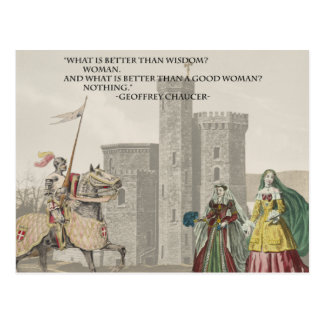 Chaucer Woman is Better than WIsdom Postcard