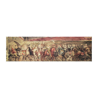 Chaucer's Canterbury Pilgrims Canvas Print