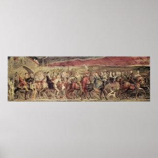 Chaucer's Canterbury Pilgrims Poster