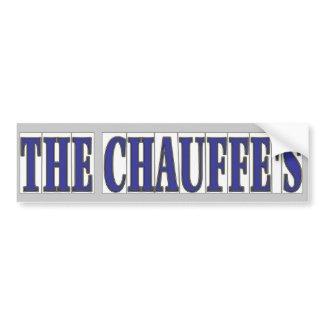 Chauffe's Name In Blue Tiles bumpersticker