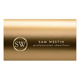 Chauffeur Gold Texture Monogram Business Card