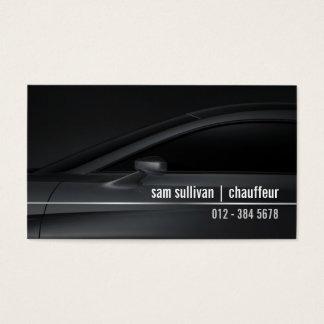 Chauffeur LimoService CarProfile Chrome Automotive Business Card