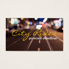 Chauffeur Taxi Cab Driver Transportation Business Business Card at Zazzle