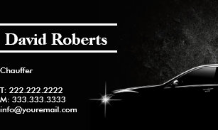 Chauffeur business cards templates zazzle chauffeur taxi driver professional dark business card colourmoves