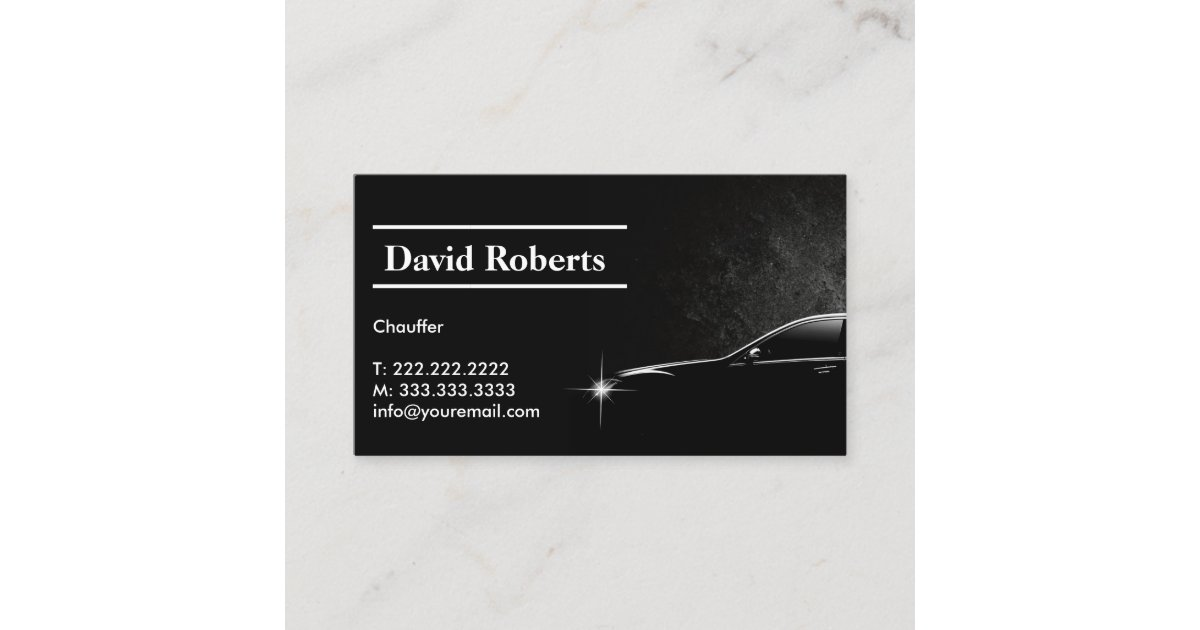 Chauffeur Taxi Driver Professional Dark Business Card | Zazzle.com