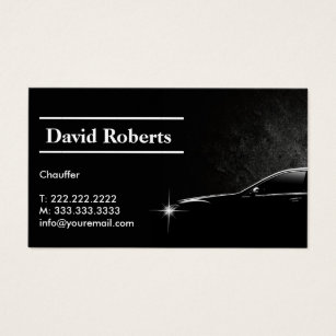Taxi business cards templates zazzle chauffeur taxi driver professional dark business card reheart Choice Image