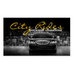 Chauffeur Town Car Driver Transportation Business Business Card