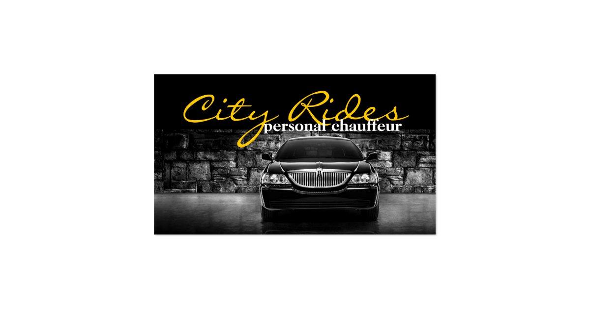 Chauffeur Town Car Driver Transportation Business Business