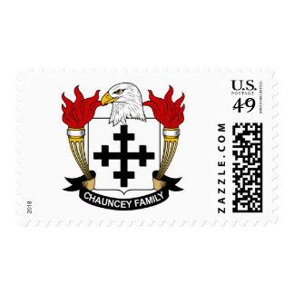 Chauncey Family Crest Stamp