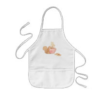 Chauncey the Squirrel Sipping Coffee Apron