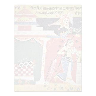 Chaurapañchâsikâ-Manuscript Manuscript Scene Champ Letterhead