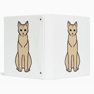 Chausie Cat Cartoon Vinyl Binder