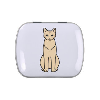 Chausie Cat Cartoon Jelly Belly Tins