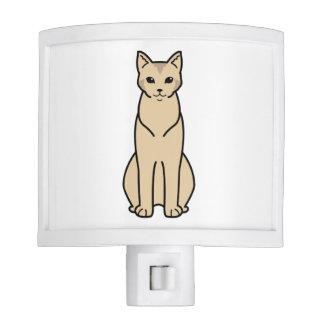 Chausie Cat Cartoon Night Lite