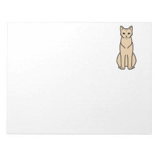 Chausie Cat Cartoon Note Pad