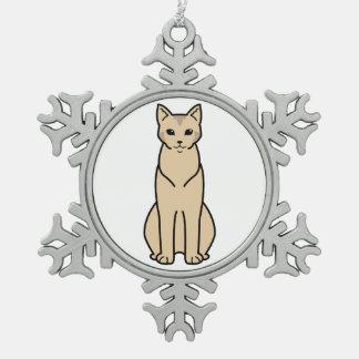 Chausie Cat Cartoon Ornaments