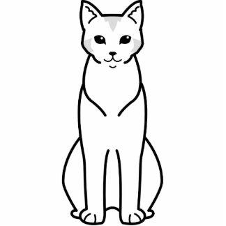 Chausie Cat Cartoon Cut Outs