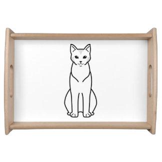 Chausie Cat Cartoon Serving Trays
