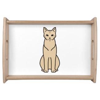 Chausie Cat Cartoon Service Trays