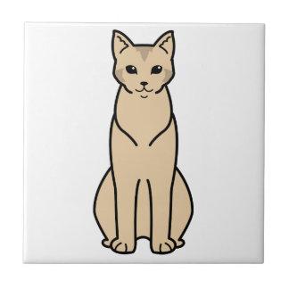 Chausie Cat Cartoon Ceramic Tiles