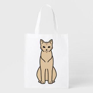 Chausie Cat Cartoon Market Tote