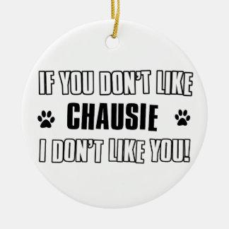 chausie cat design ceramic ornament