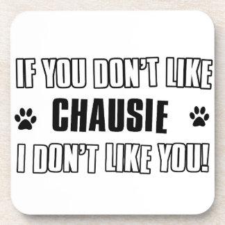 chausie cat design drink coaster