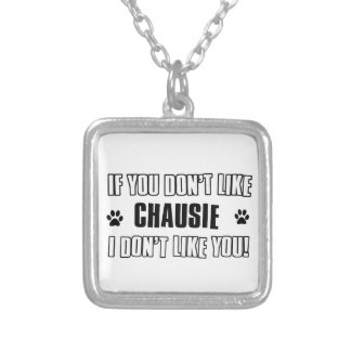 chausie cat design personalized necklace