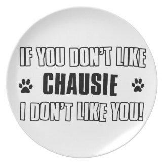 chausie cat design plate