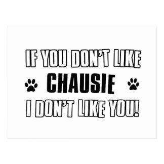 chausie cat design postcard