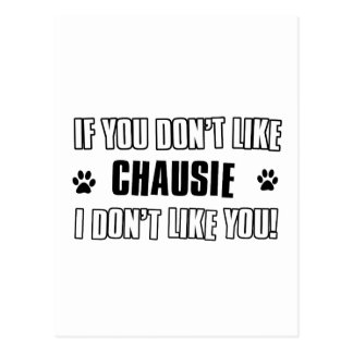 chausie cat design post card