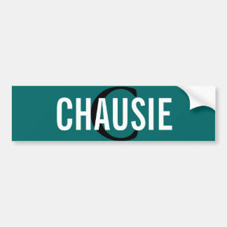 Chausie Cat Monogram Design Bumper Sticker