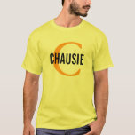 Chausie Cat Monogram Design T-Shirt