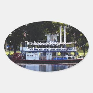 Chautauqua Belle on Lake Chautauqua Oval Sticker