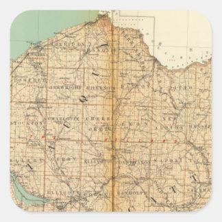 Chautauqua, condados de Cattaraugus Pegatinas Cuadradases