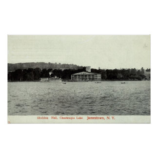 Chautauqua Lake, Jamestown NY 1909 Vintage Poster