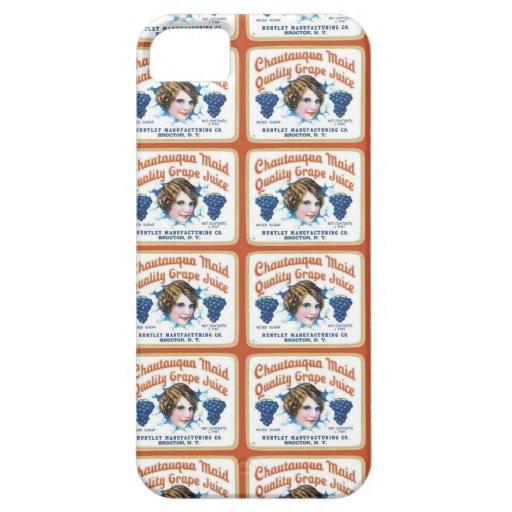 Chautauqua Mädchen-Qualitäts-Traubensaft iPhone 5 Covers