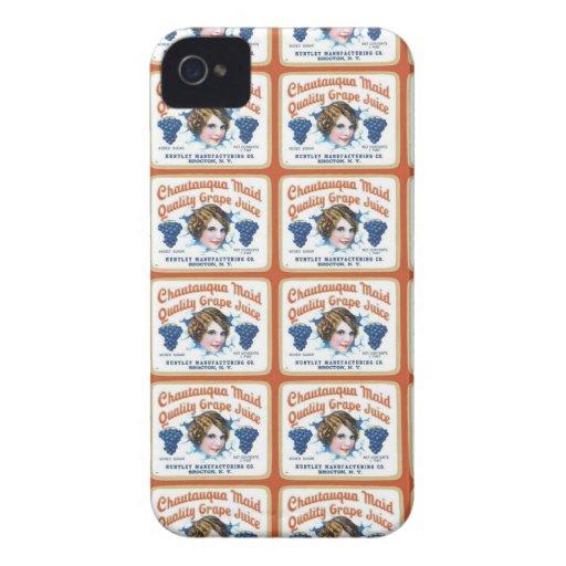 Chautauqua Maid Quality Grape Juice Case-Mate iPhone 4 Cases