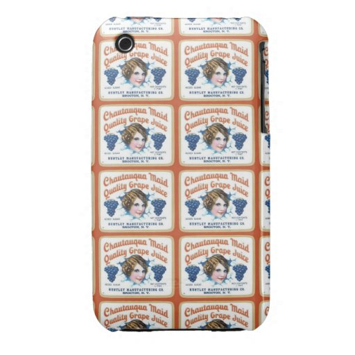 Chautauqua Maid Quality Grape Juice iPhone 3 Case-Mate Case