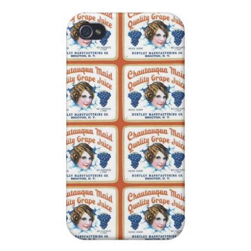 Chautauqua Maid Quality Grape Juice Cases For iPhone 4