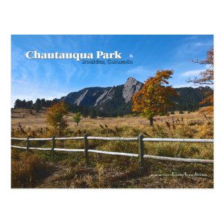 Chautauqua Park ~ Boulder Colorado Postcard