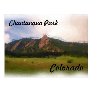 Chautauqua Park Colorado postcard
