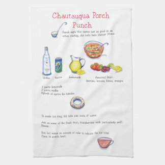 Chautauqua porch punch towel