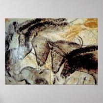 Chauvet Cave Horses Poster