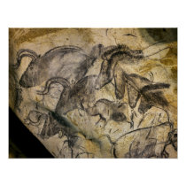 Chauvet Cave in Vallon Pont d'Arc Poster
