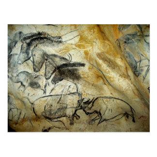Chauvet Lascaux Cave Horses and animals Postcard